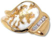 Gold Quartz Ladies Ring