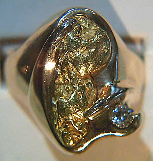 Natural Gold in Quartz and Natural Gold Nuggets Silvas Fine Jewelry